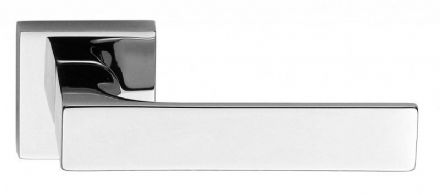 Frascio 620/50Q/PCP Tuke Door Handle On Square Rose Polished Chrome